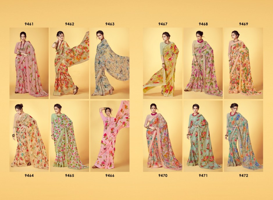 shangrila kaamini vol 9 colorful fancy collection of sarees at reasonable rate