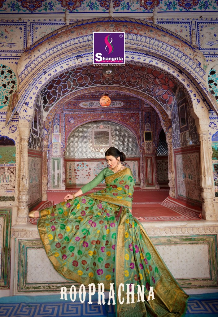 Shangrila rooprachna Traditional cotton sarees catalog