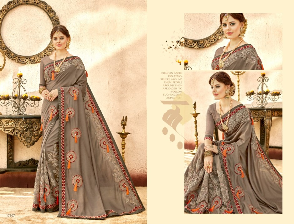 triveni angels colorful designer collection of sarees at reasonable rate