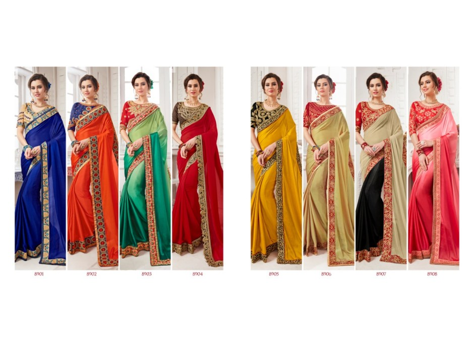 triveni dilruba colorful fancy collection of sarees