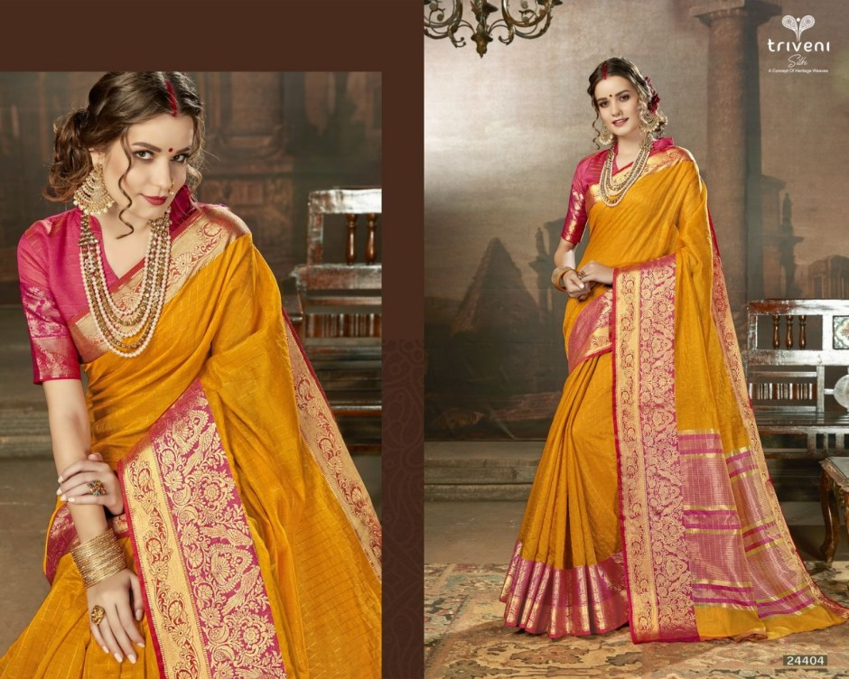 Triveni Sasya fancy colourfull sarees collection at wholesale rate