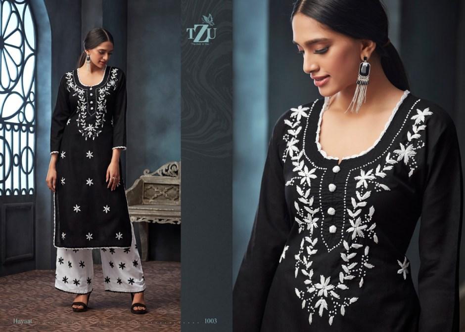 Tzu lifestyle hayaat Designer kurti with plazzo collection