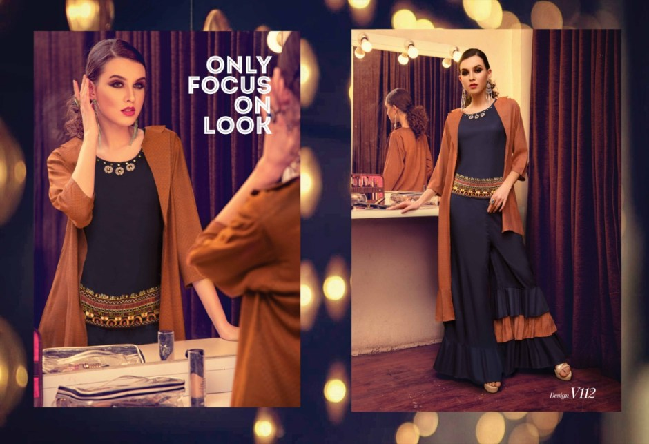 Vastrikaa u fancy top and bottom party wear collection