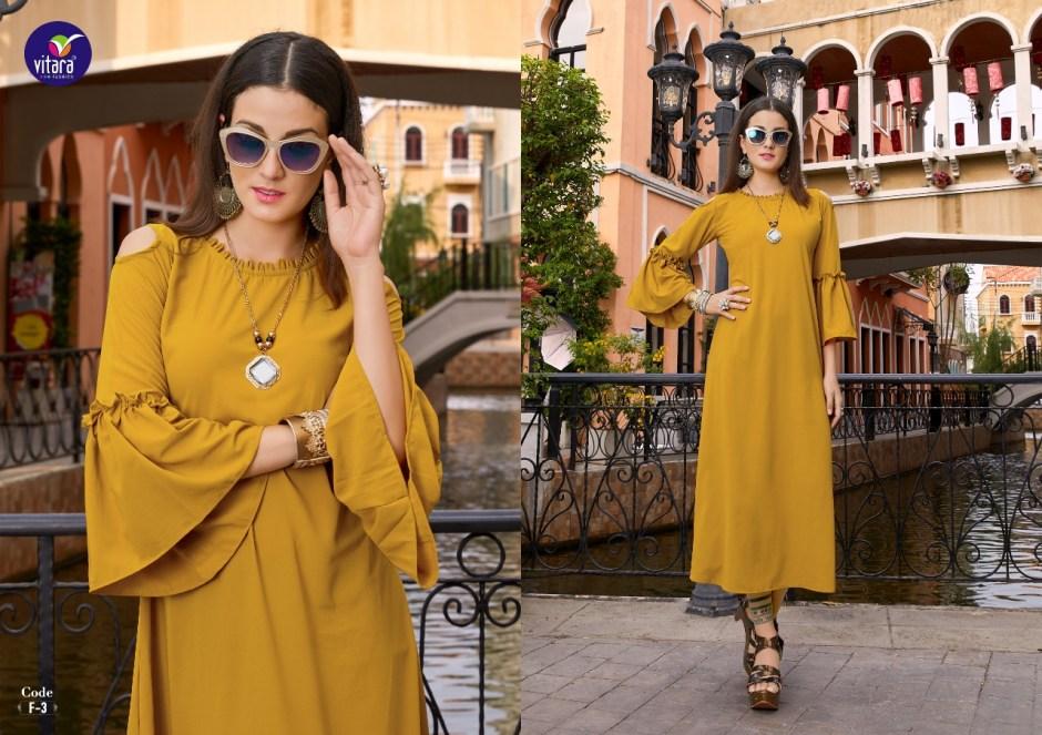 vitara fashion elegance colorful fancy collection of kurtis at reasonable rate