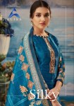 Alisa silky digital printed cotton salwar kameez Material at wholesale rate