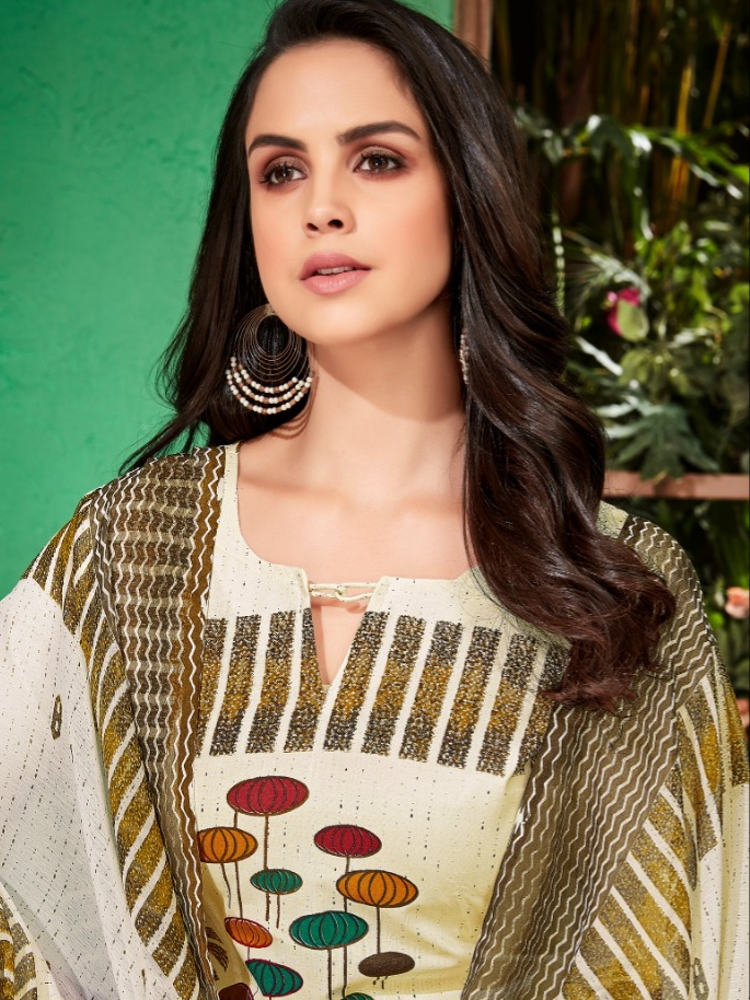 f28828890a Alok suits white beauty cotton printed salwar kameez