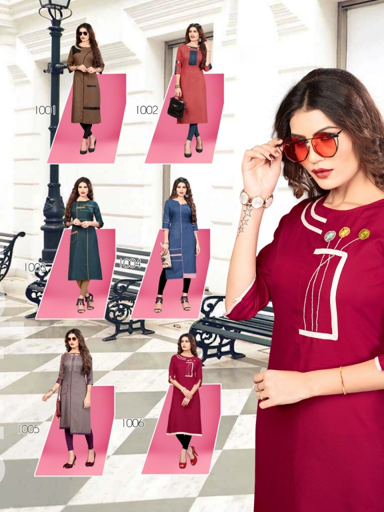 Banwery legend fancy designer casual wear kurties catalog