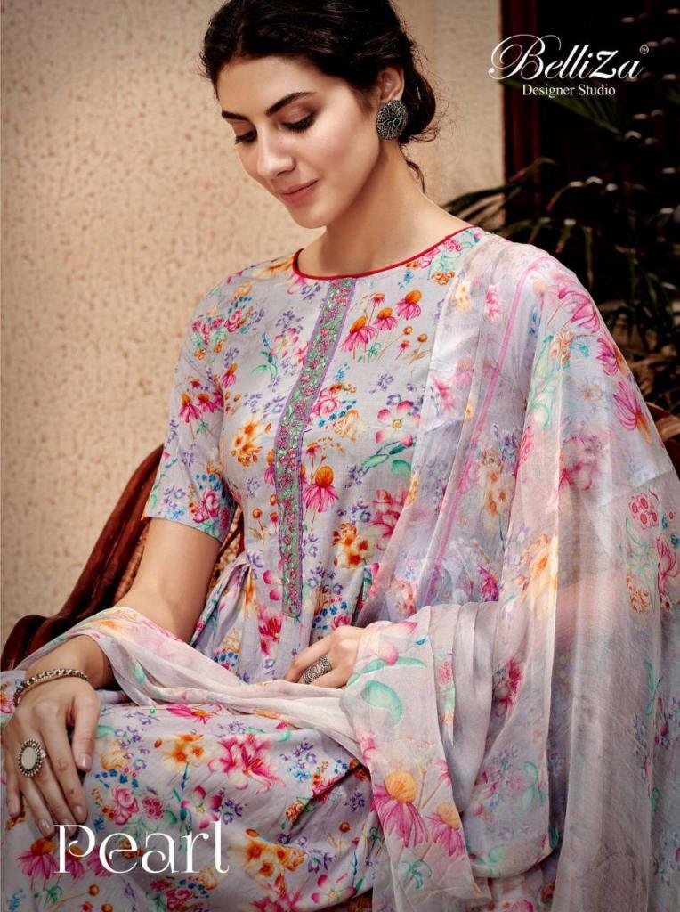Belliza designer studio pearls vol 2 digital printed cotton salwar kameez collection dealer