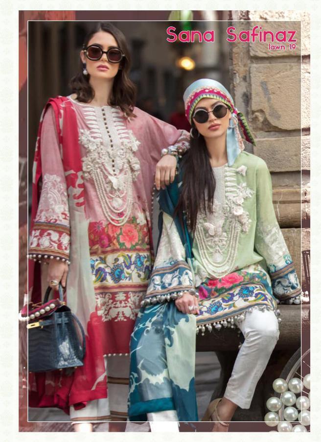 Deepsy suits sana safinaz lawn 19 heavy embroidered karachi work dress Material catalog