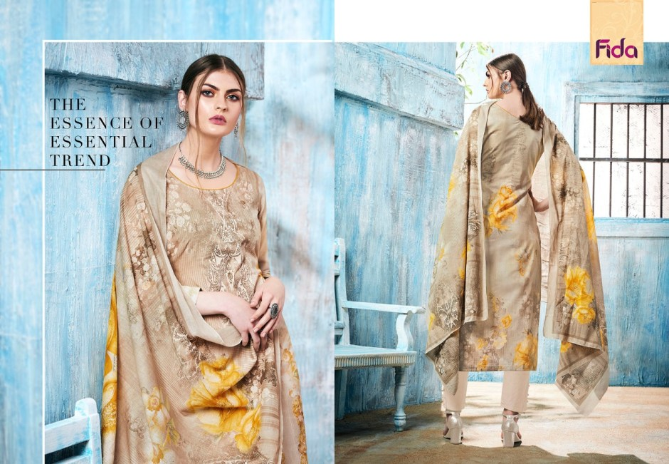 Fida international rukhsar pure cotton salwar kameez collection at wholesale rate