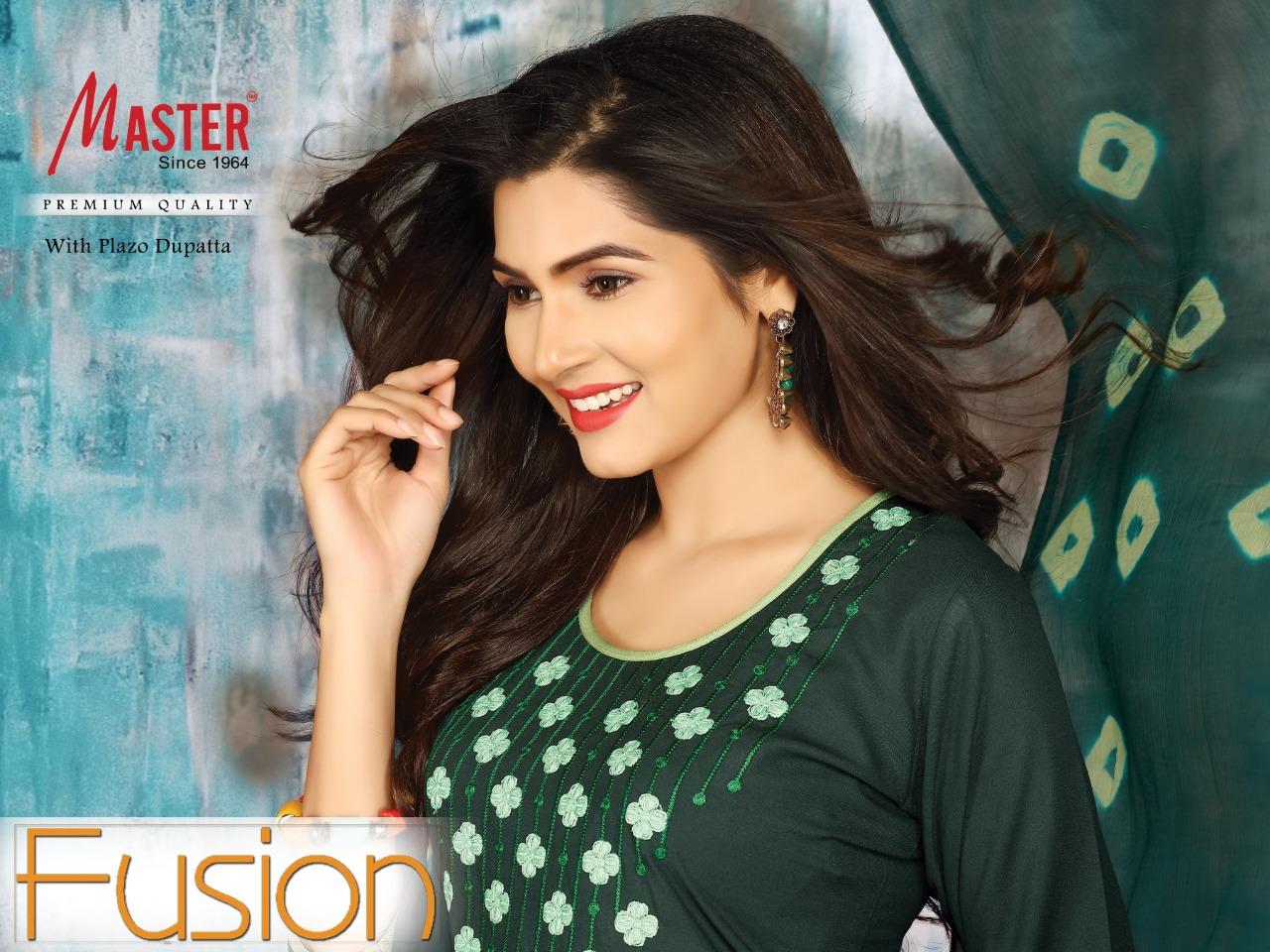 Master fusion latest kurti plazzo dupatta edition at wholesale rate