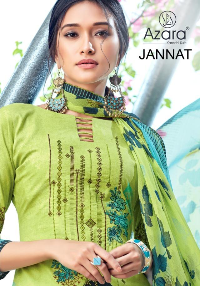 Radhika azara jannat printed salwar kameez collection wholsaler