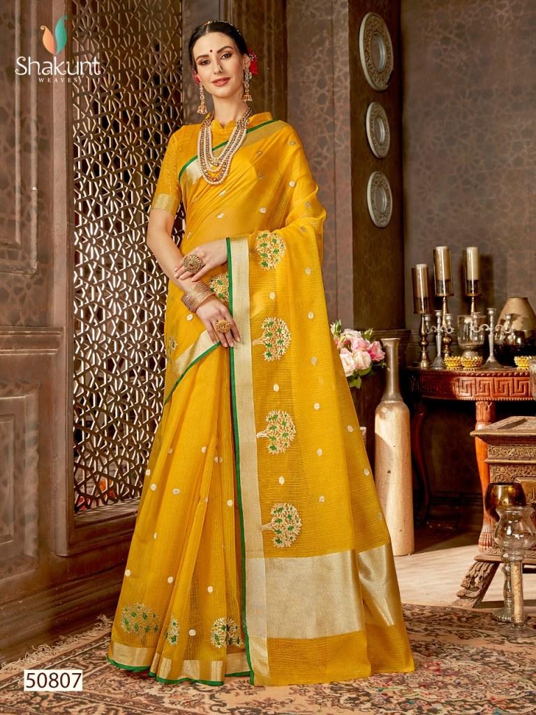 Shakunt weaves shobha colourful party wear sarees catalog