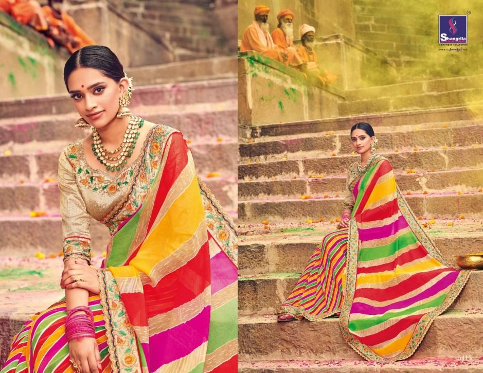 Shangrila lehariya elegant fancy Sarees catalog Exporter