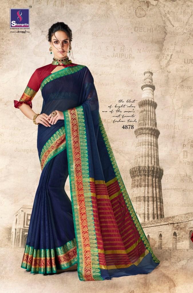 Shangrila vrinda cotton 2 printed Traditional wear sarees collection