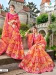 Triveni rang varsha chiffon printed daily wear sarees exporter