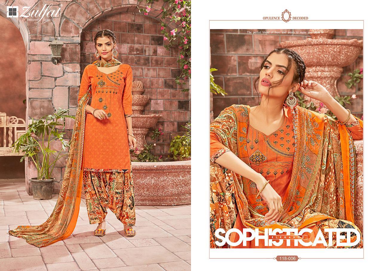 1fca8e49f8 Zulfat designer studio patiala babes cotton printed salwar kameez collection