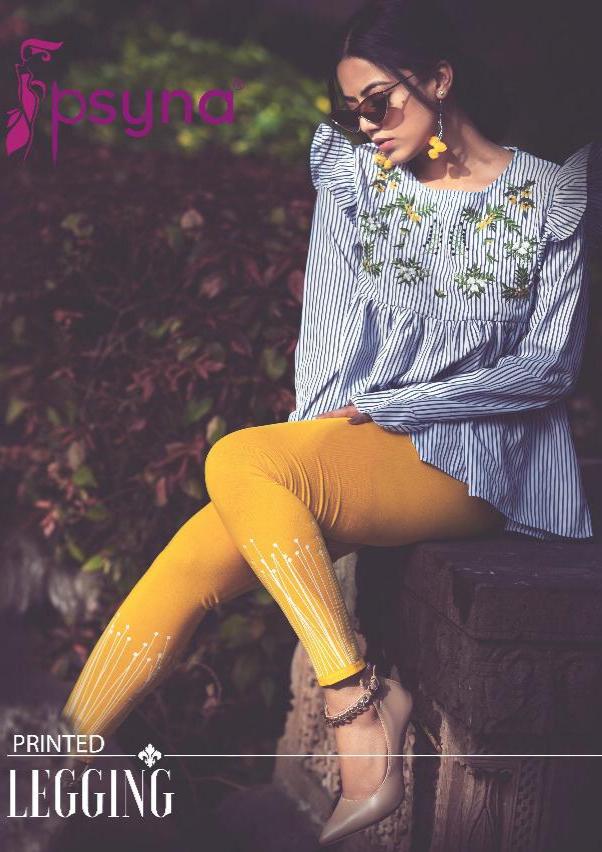 Psyna printed leggings cotton lycra free size leggings