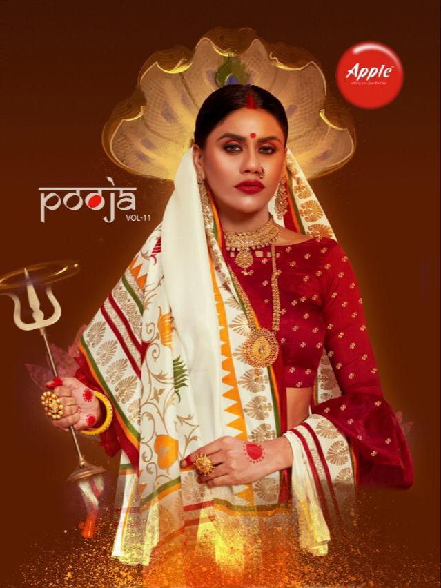 Apple pooja vol 11 Occasional wear silk sarees collection