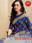 Apple sarees hits of womaniya vol 4 bhagalpuri silk sarees collection