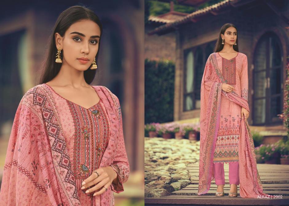 House of lawn Alfaz designer embroidered karachi dress Material Wholesaler