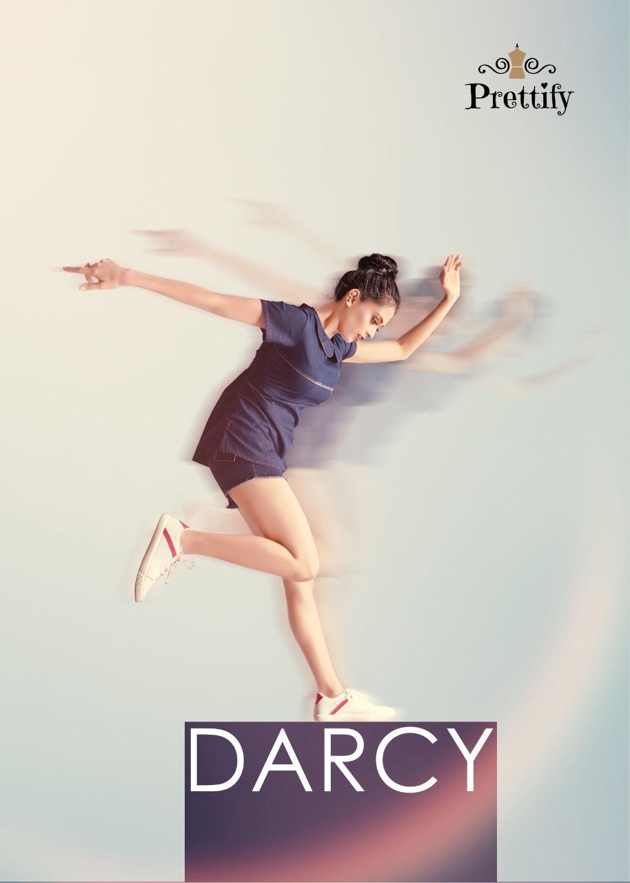 Prettify darcy cotton denim short tops collection