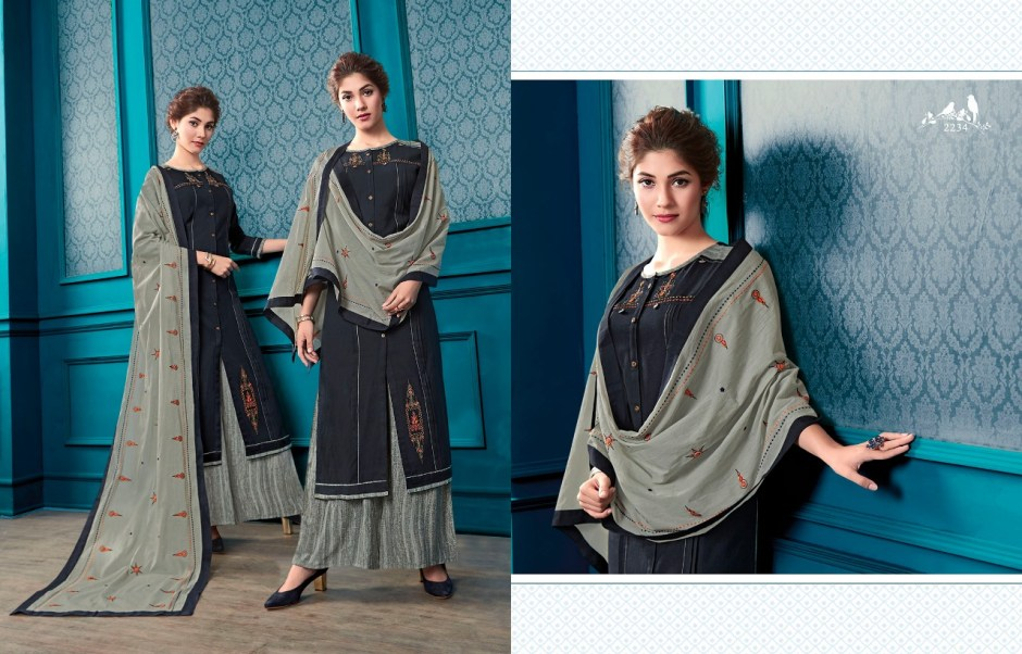 rangoon bliss cotton straight long readymade kurti plazzo collection