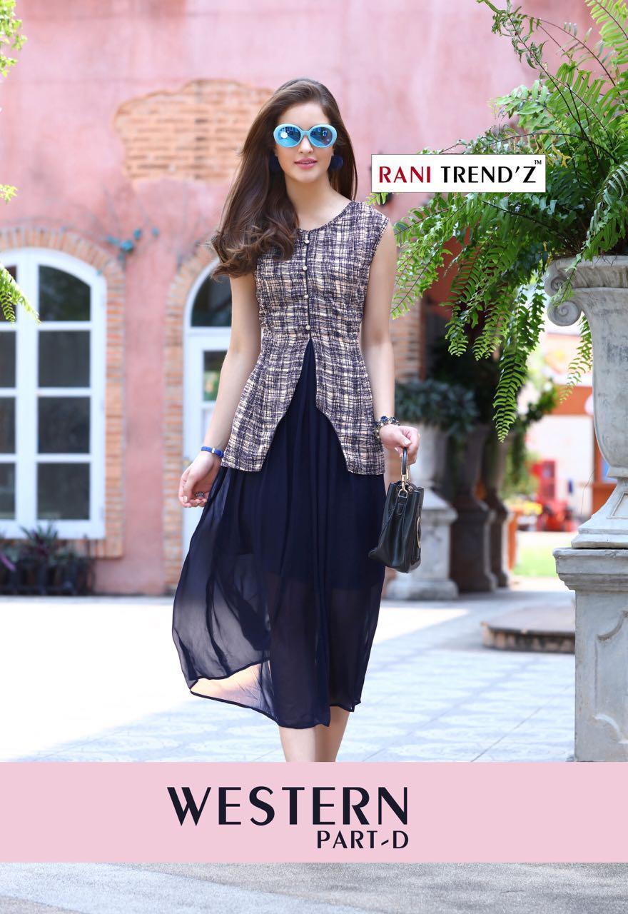 Rani trendz western d georgette kurties collection dealer