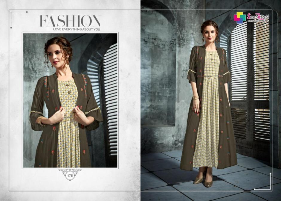 Sanskruti silk mills pehel rayon fancy long gowns catalog