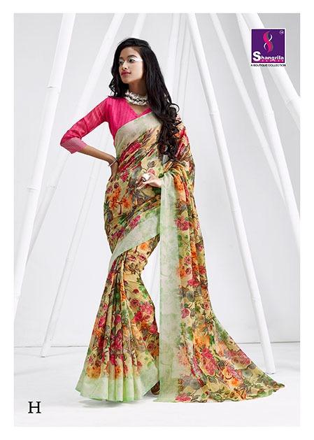 Shangrila simaaya cotton vol 2 handloom printed cotton sarees exporter