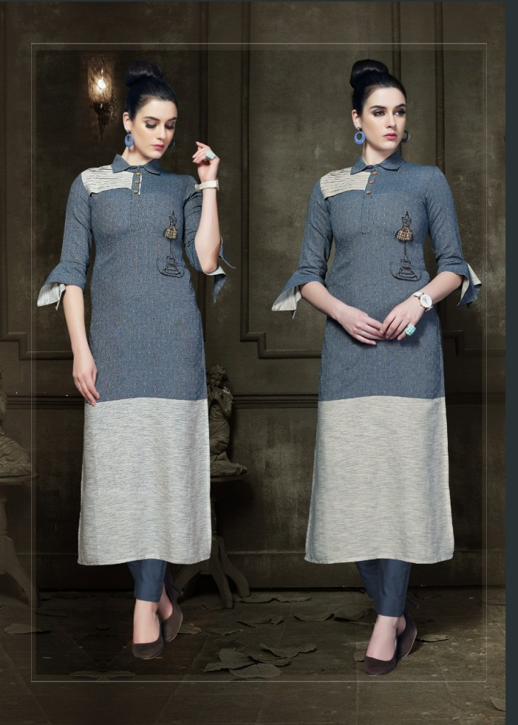Vivils silk mills swiggy pure cotton kurties collection