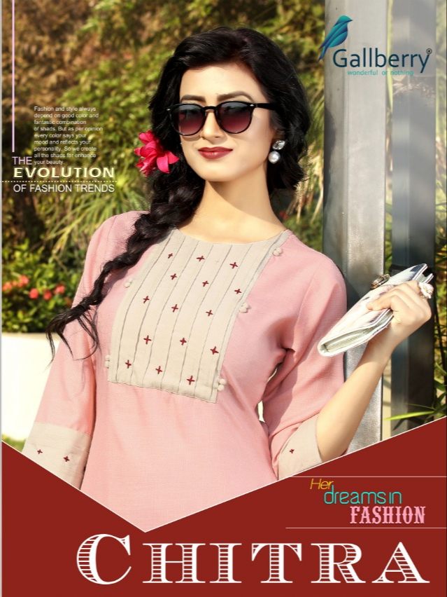 Gallberry chitra cotton kurties with plazzo collection