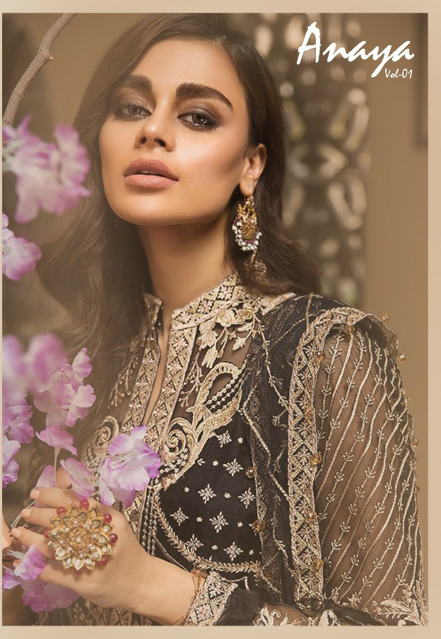 Kaara suits anaya premium collection of heavy embroidery Salwar suit