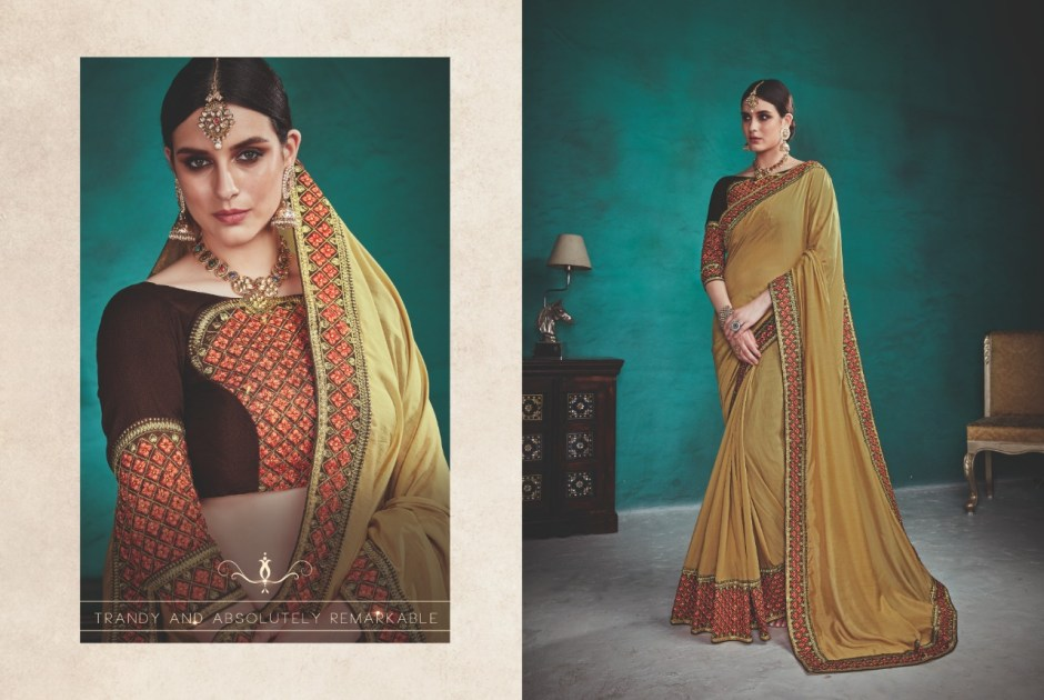 Kalista fashion aasma vol 1 fancy party wear sarees collection