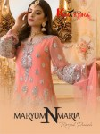 Khayyira Suits maryam N maria Heavy embroidery premium collection of Salwar suit