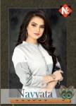 Neeti creation navyata white colours straight kurties catalog