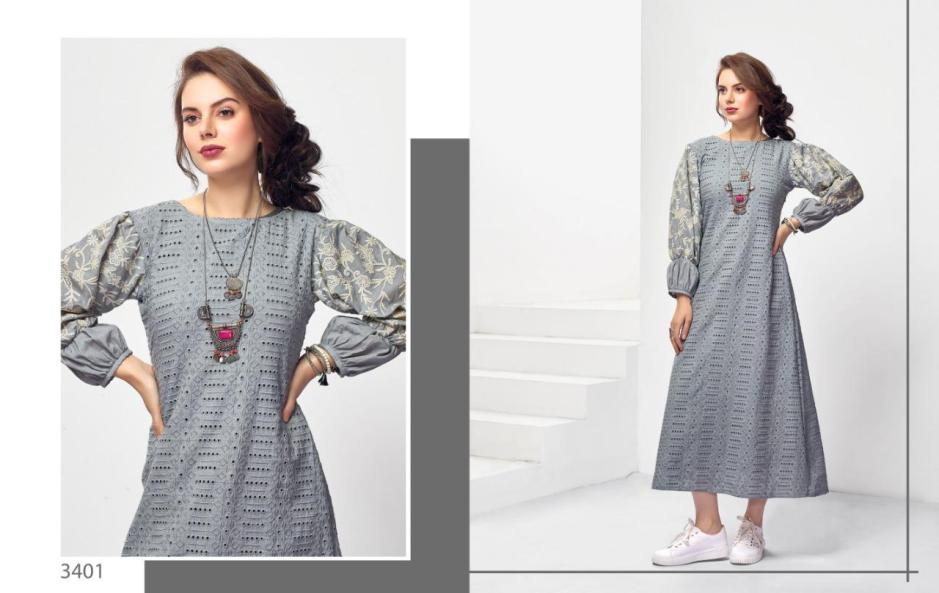 Nitara Reena vol 2 cotton embroidered long gown collection