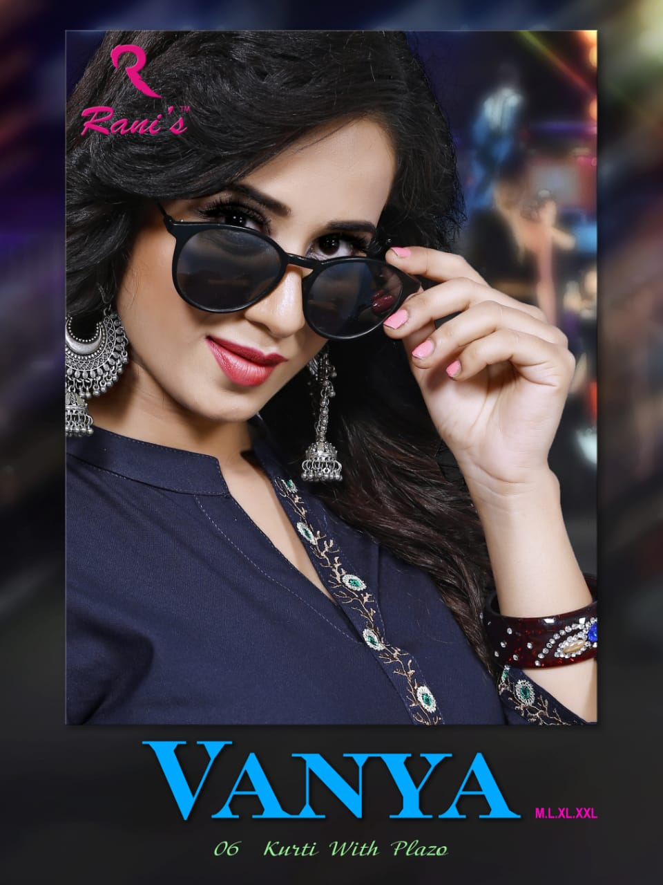 Rani's vanya rayon embroidered Kurties with plazzo catalog