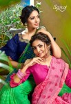 Saroj julie vol 5 embroidered chiffon Occasional wear sarees collection