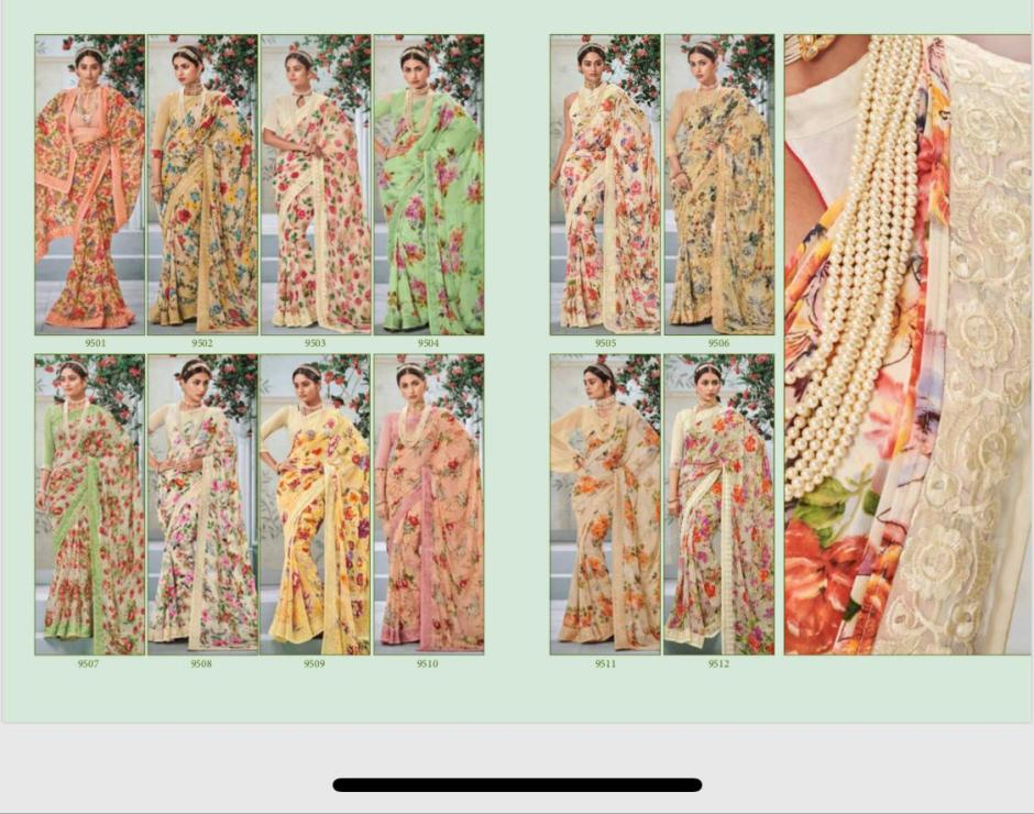 Shangrila kaamini vol 11 fancy wear sarees collection at wholesale rate