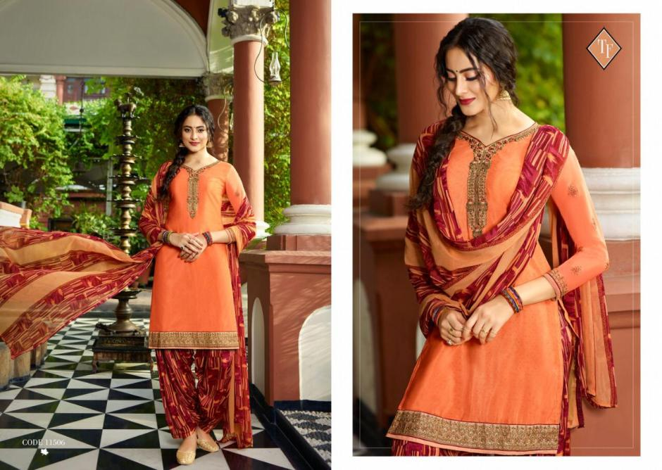 Tanishk fashion royal silk vol 6 crepe salwar suits exporter