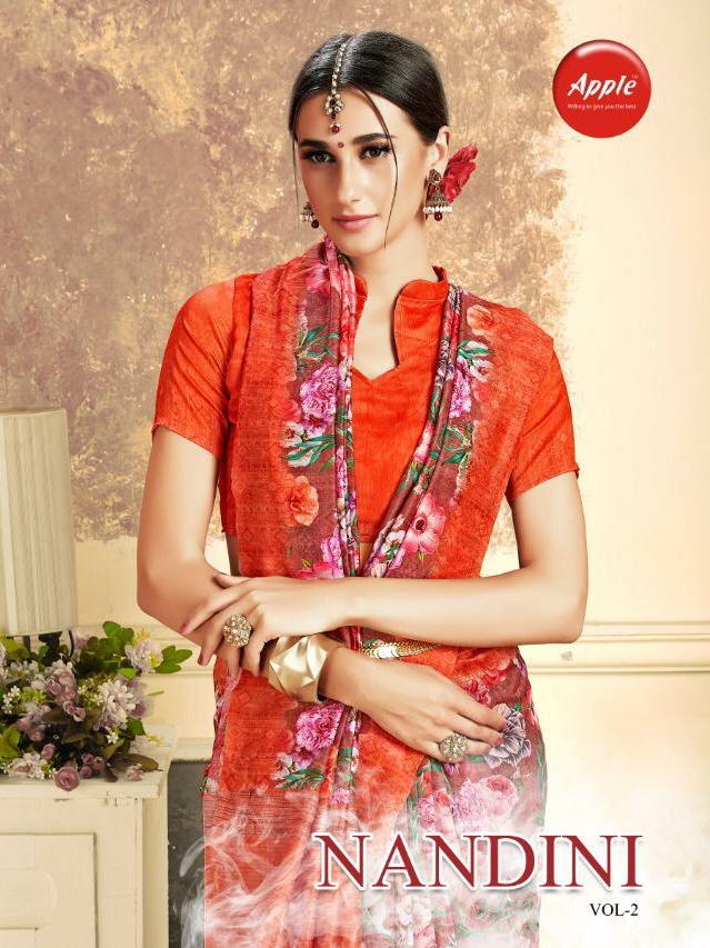 Apple sarees nandini silk Vol 2 exclusive collection of sarres