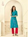 Diksha fashion maahi vol 4 silk rayon casual wear kurties exporter