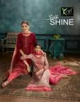 Kessi Fabrics silk shine Exiquisite embroidery work Salwar suit