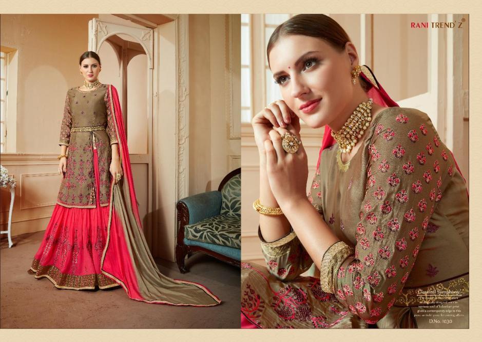 Rani trendz kohinoor vol 11 silk salwar with lehenga collection