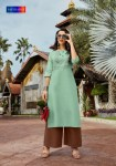 Saptrangi sisa present beautiful collection of design Kurties with plazzo at wholesale prices