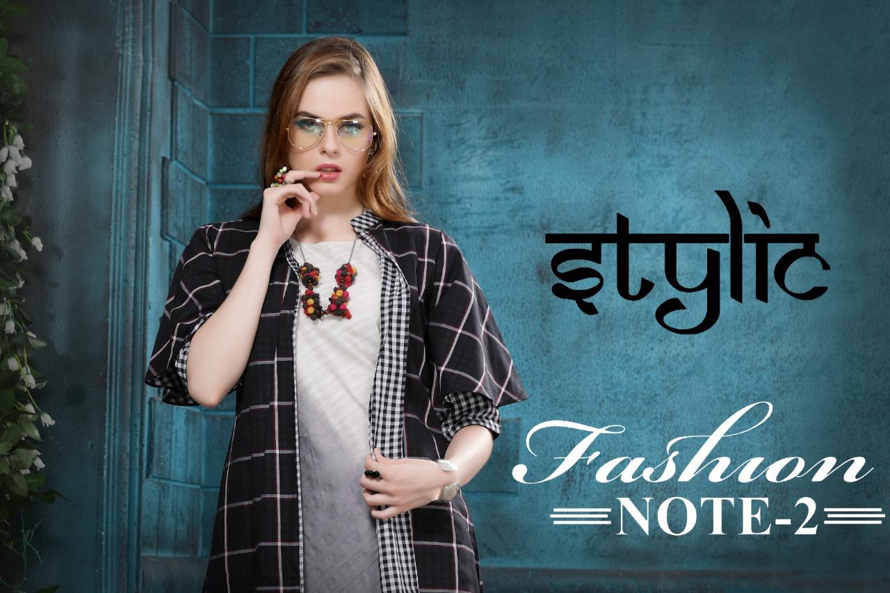 Stylic fashion note 2 fancy party wear kurties exporter