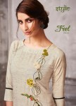 Stylic feel vol 3 beautiful embroidered straight kurties collection at wholesale rate