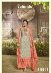7 clouds violet   decent print with embroidary kurti with bottom calalog