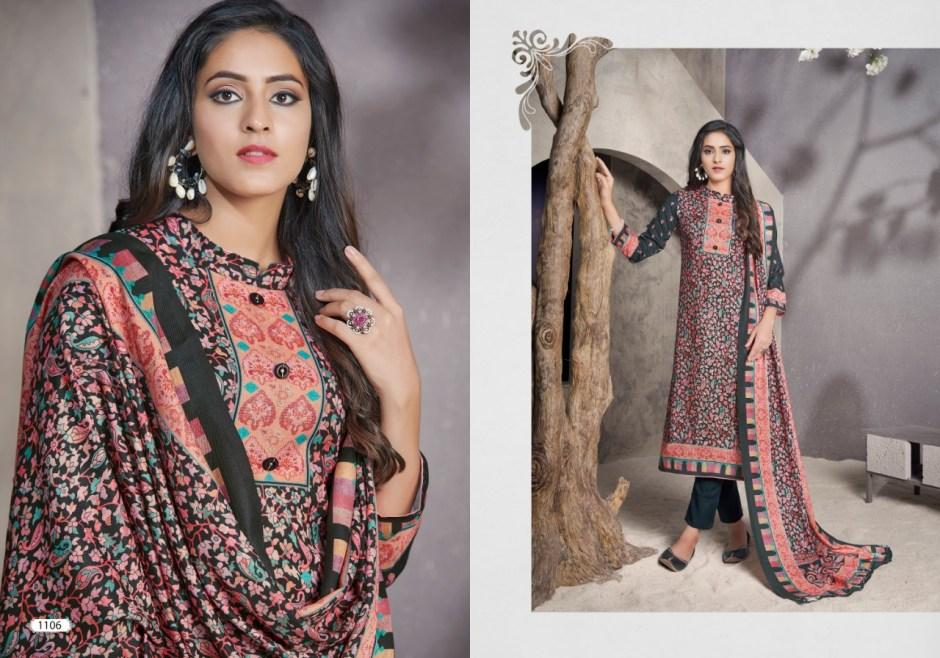 bipson Kashmiri Queen  6 pashmina authentic fabric salwar suit catalog